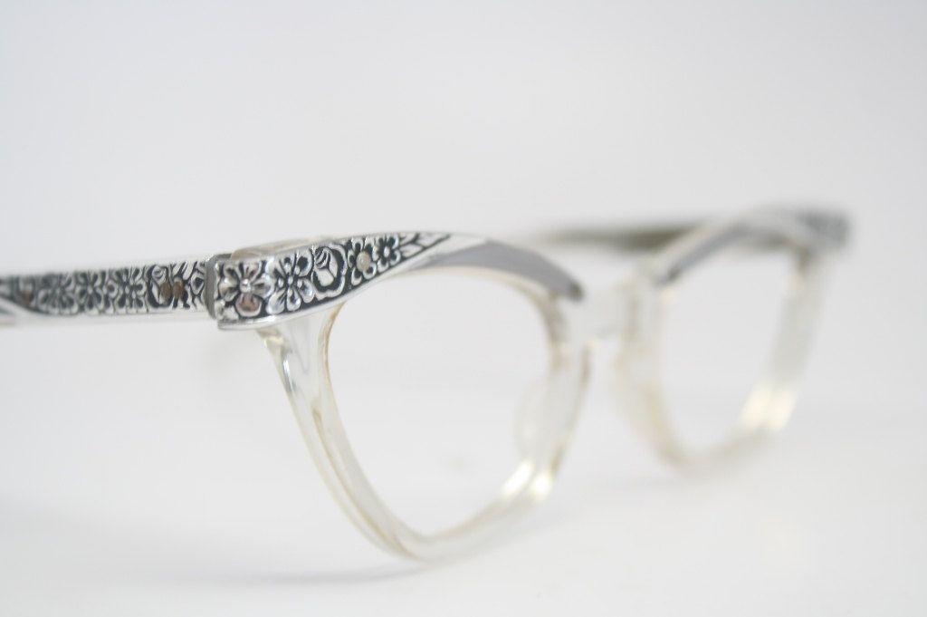 6b5efc276e Small Cateye Glasses 50s Vintage Glasses Cat Eye New Old Stock.  95.00