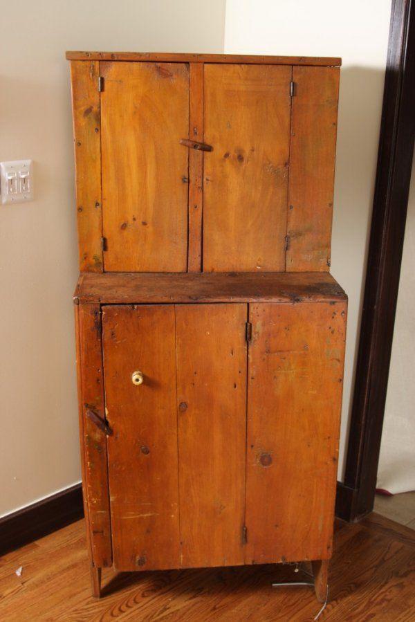 Cupboard Primitive Pine Step Back Boot Jack Feet