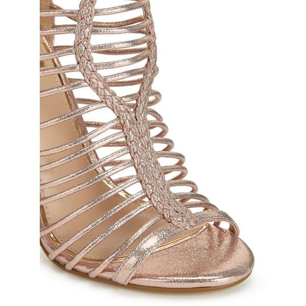Bridal Shoes Selfridges: Miss Selfridge CRAZE Caged Sandals (4.120 RUB) Liked On