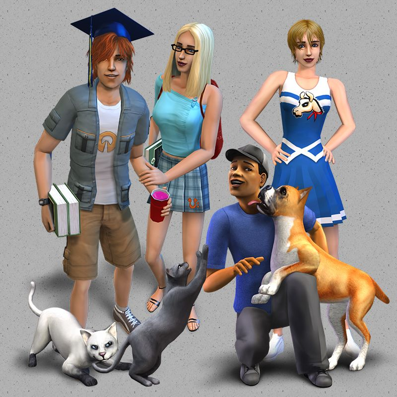 Mod The Sims - Pets at University | The Sims 2 Mods | Sims