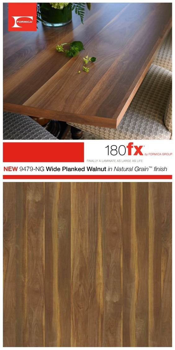 Formica 180fx 9479NG Wide Planked Walnut in Natural