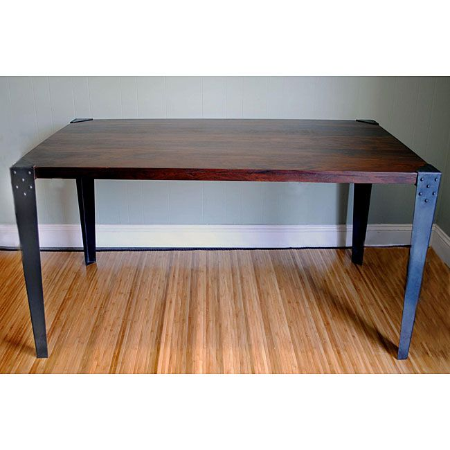 Sheesham Wood Metal Legs Dining Table (India)   Overstock™ Shopping   Top  Rated