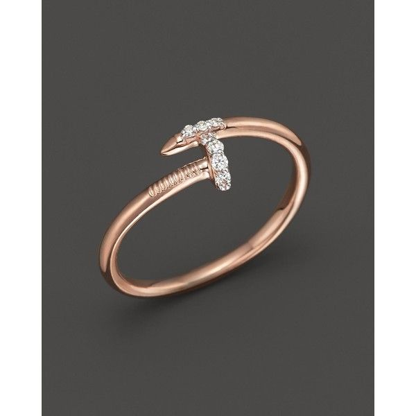 Kc Designs Diamond Nail Ring in 14K Rose Gold 06 ct tw 550
