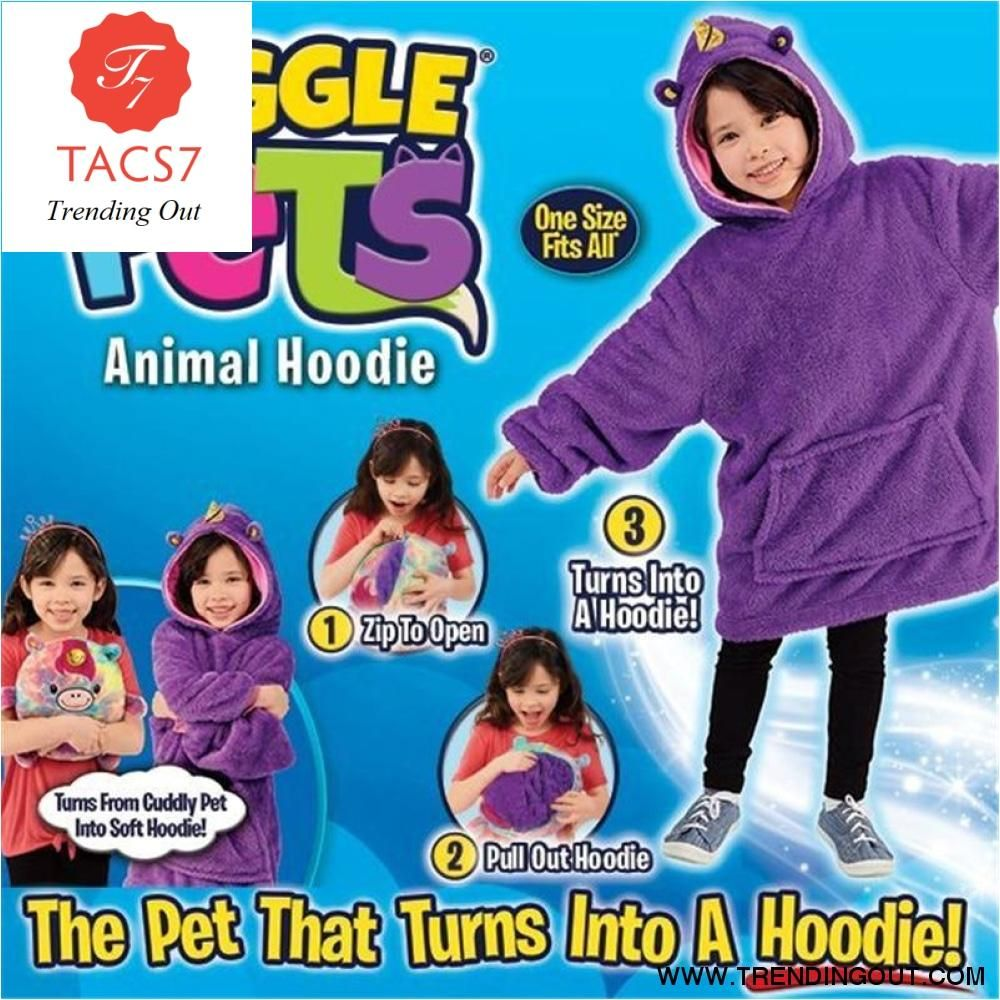 Huggle Pets Hoodie Dinosaur Hooded Sweatshirt Warm Winter