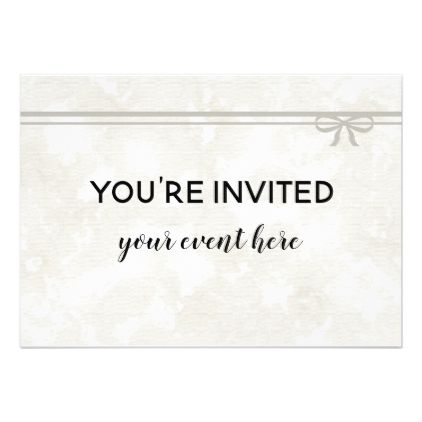 elegant floral bow fancy party invite card fancy party engagement