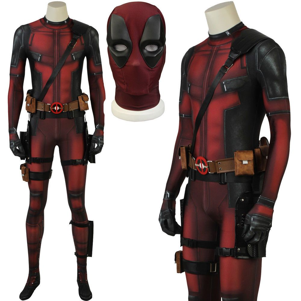 Marvel Comics Deadpool Partysuit Costume Adult Bodysuit Halloween Party Suit
