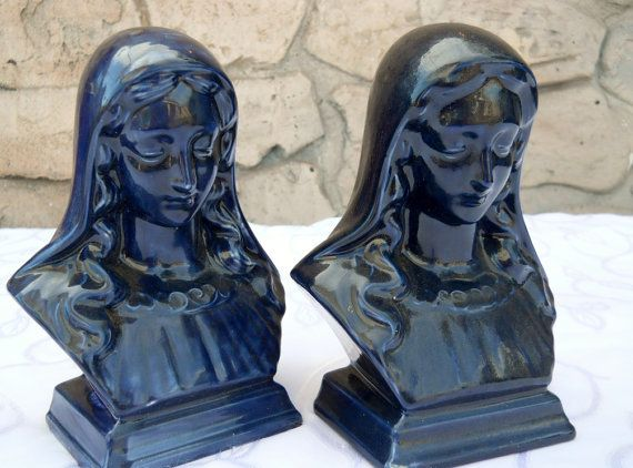 Vintage Library Bookends Mary Madonna by PerfectlyGoodStuff, $18.00