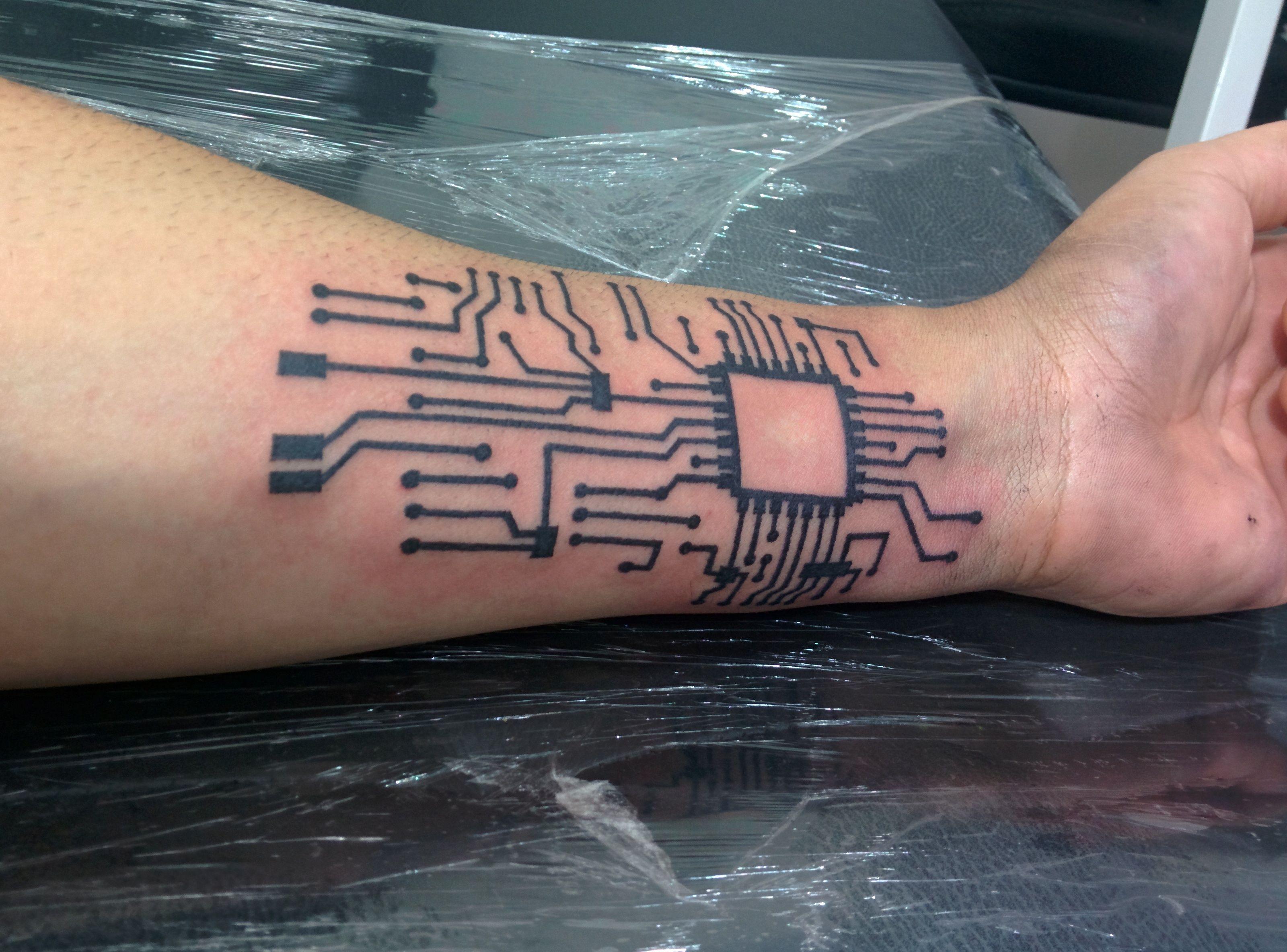 Geek tatto pcb printed circuit board brazo pinterest