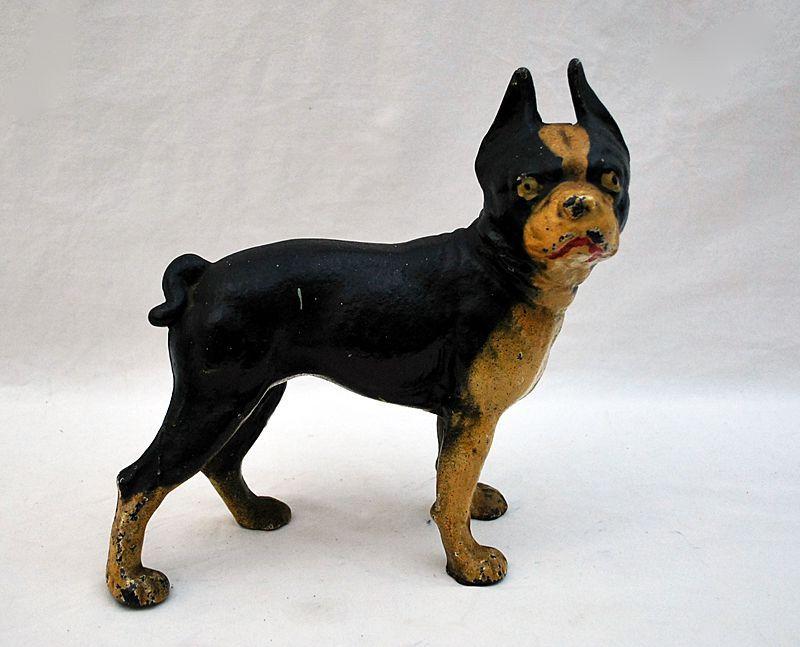 Antique Door Stop Cast Iron Terrier Dog From Bluedolphin