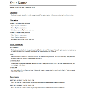 What Is Functional Resume 5 Functional Resume Templates  Word Excel & Pdf Templates .