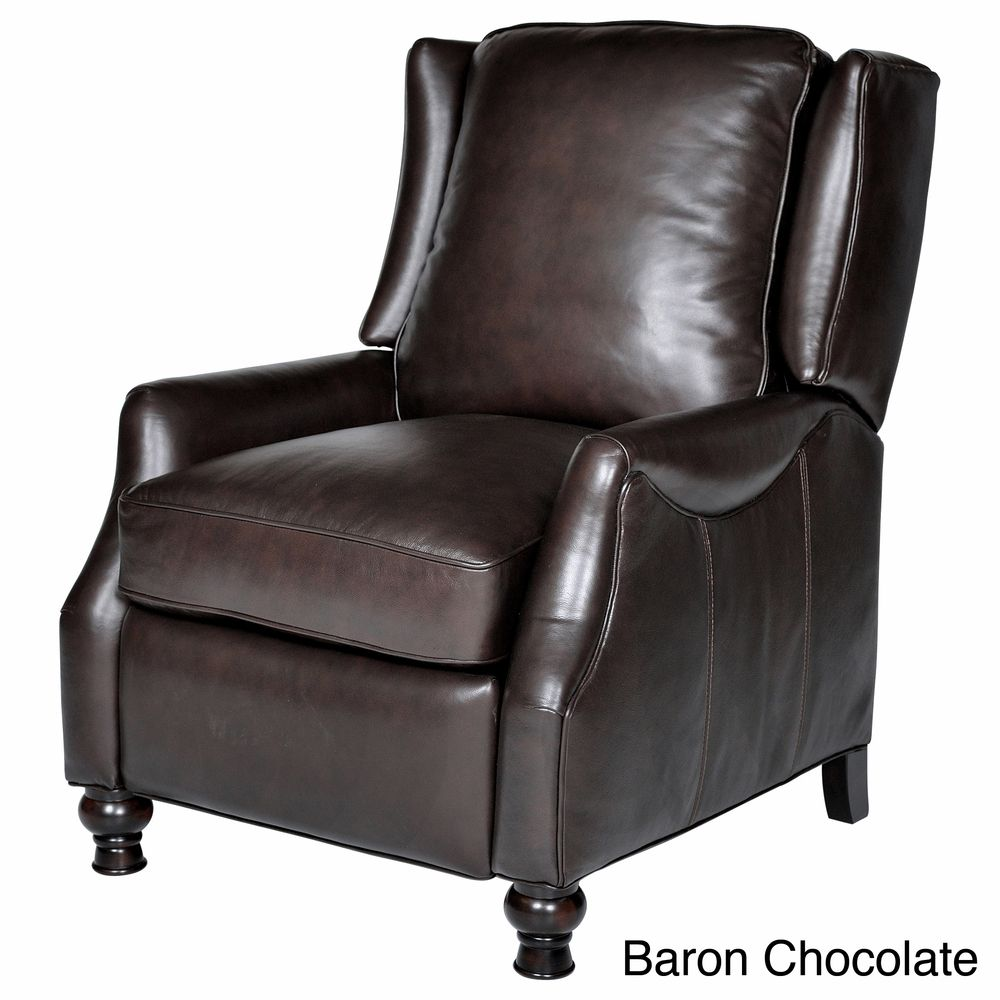 Charles Leather Recliner Overstockcom Shopping