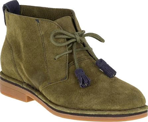 c4408a6a3 Hush Puppies Cyra Catelyn Chukka Shown in Dark Olive Suede. From the women s  ankle boots