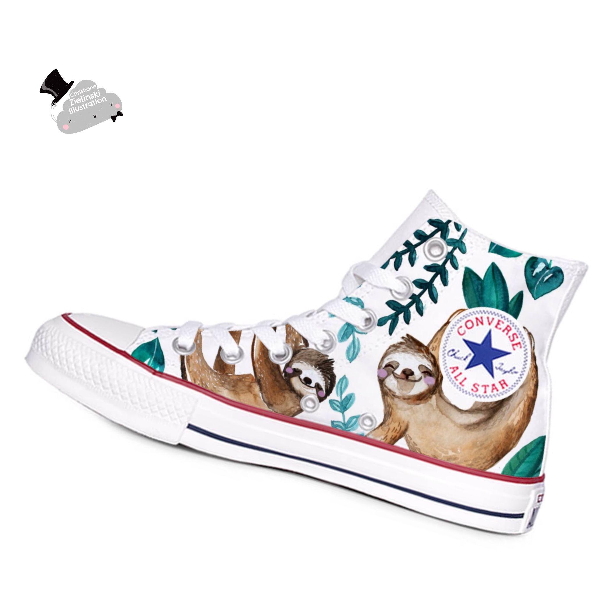 Love Sloth converse chucks Design by
