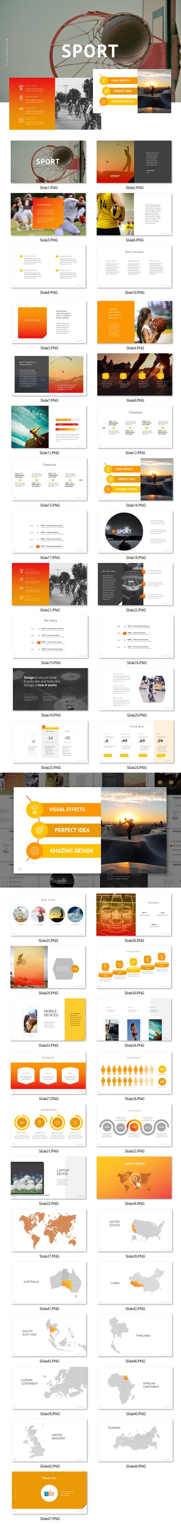 Sport  Powerpoint  Presentation Templates Template And Creative