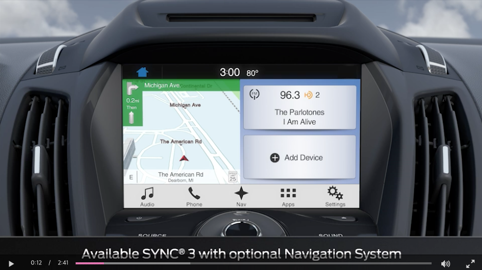 Ford Sync 3 좌측네비 우측인포 2 Navigation Gui