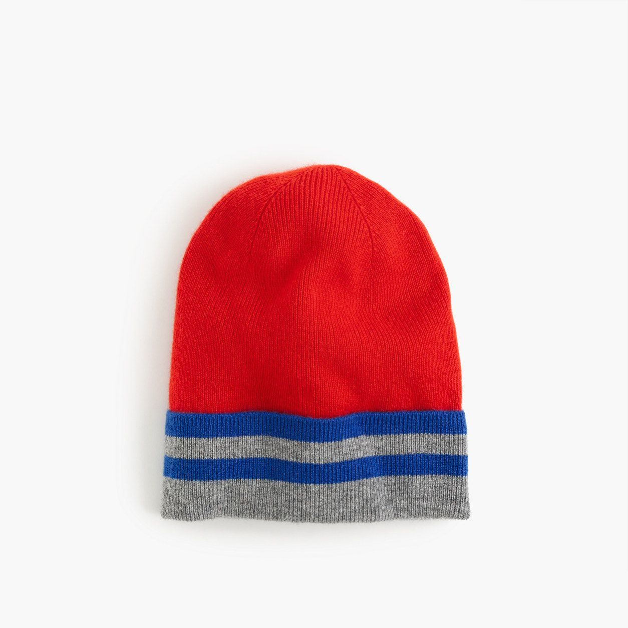 crewcuts Boys Striped Cashmere Beanie Hat (Size L-XL Kid)