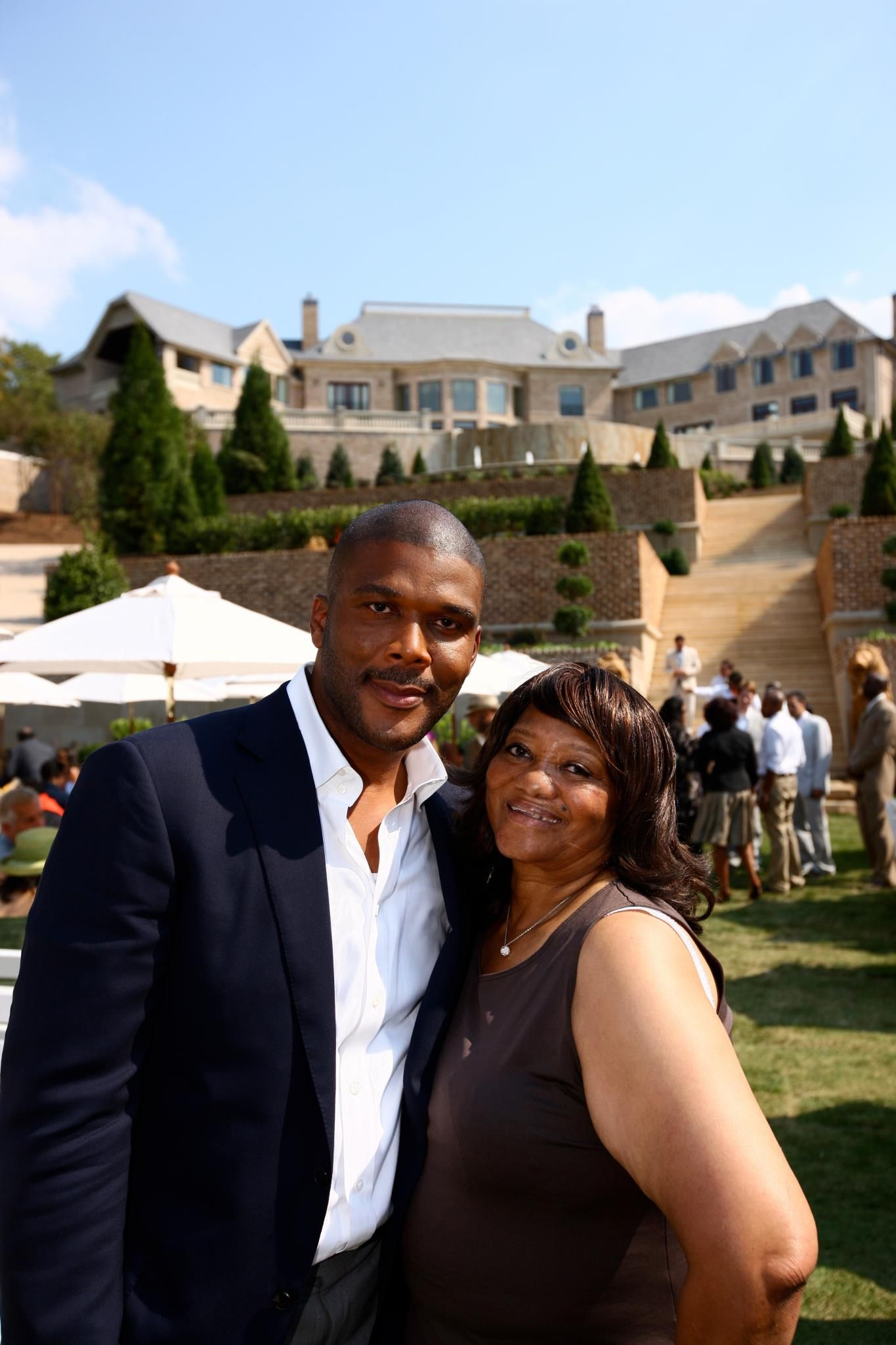 Tyler perry his aunt with images celebrity families