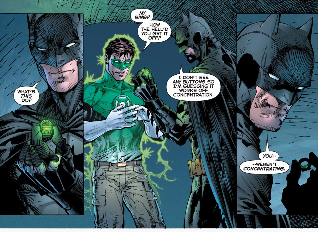 Batman meets Green Lantern in Justice League War