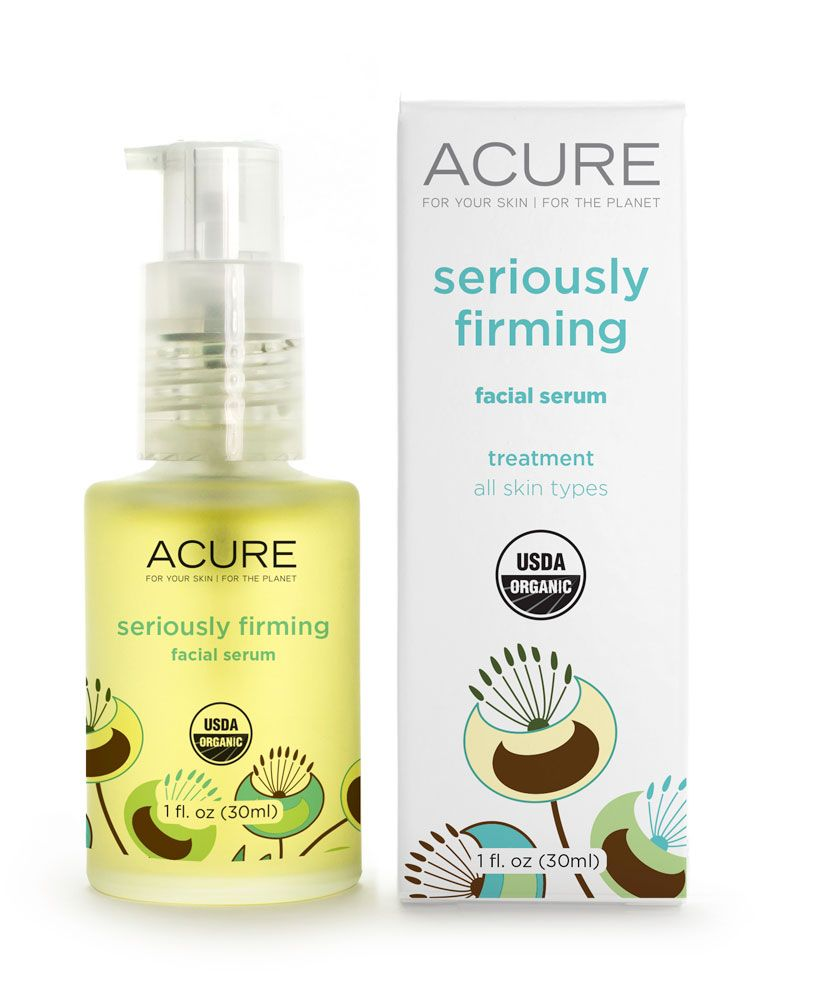 Acure Brightening Glowing Serum -- 1 Fl Oz