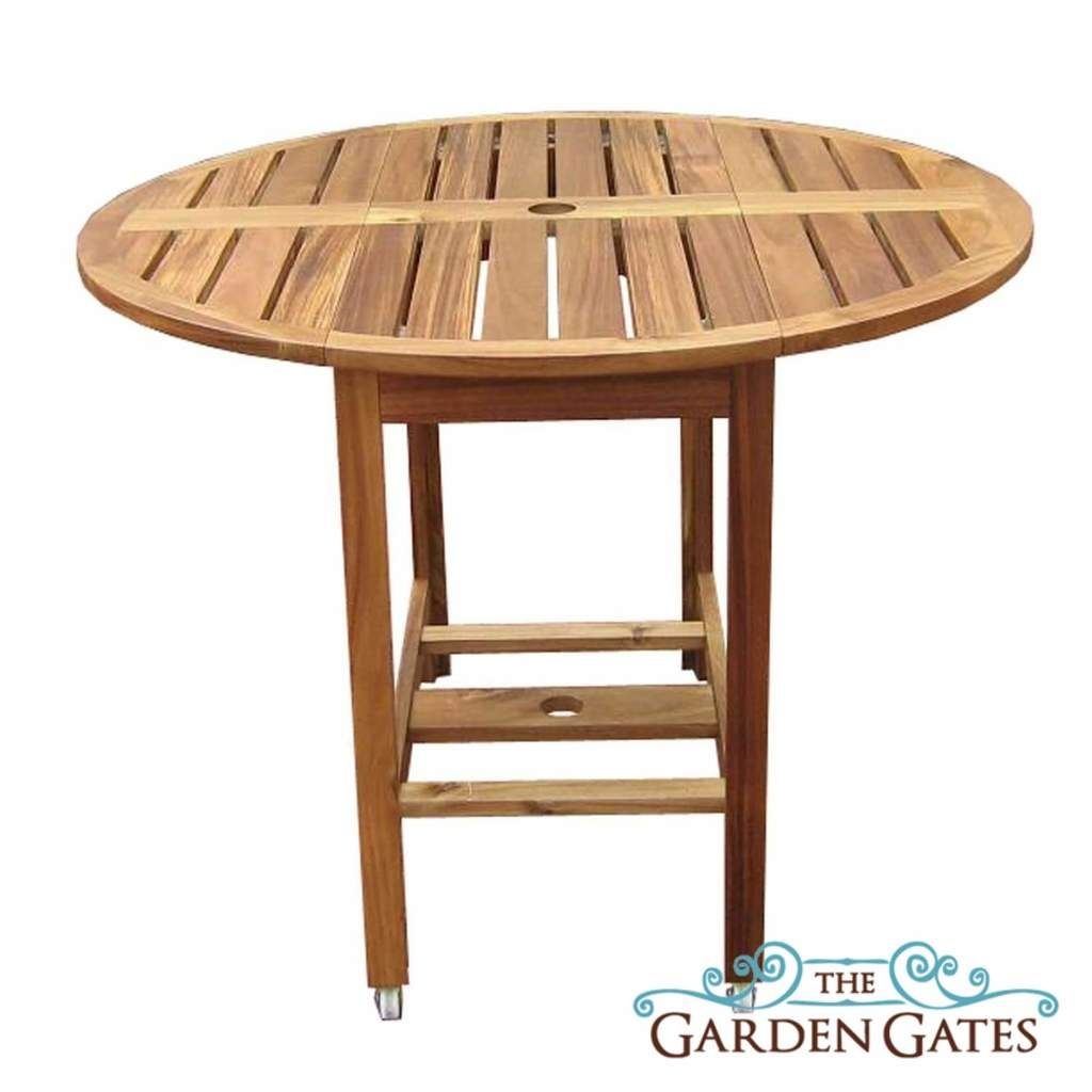 Acacia Folding Table And Chair Set Wooden Outdoor Furniture Round Folding Table Folding Dining Table Round Patio Table