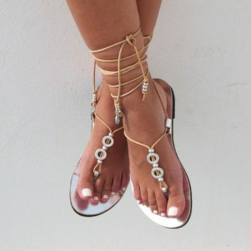 flat lace up tie up sandals - Google Search