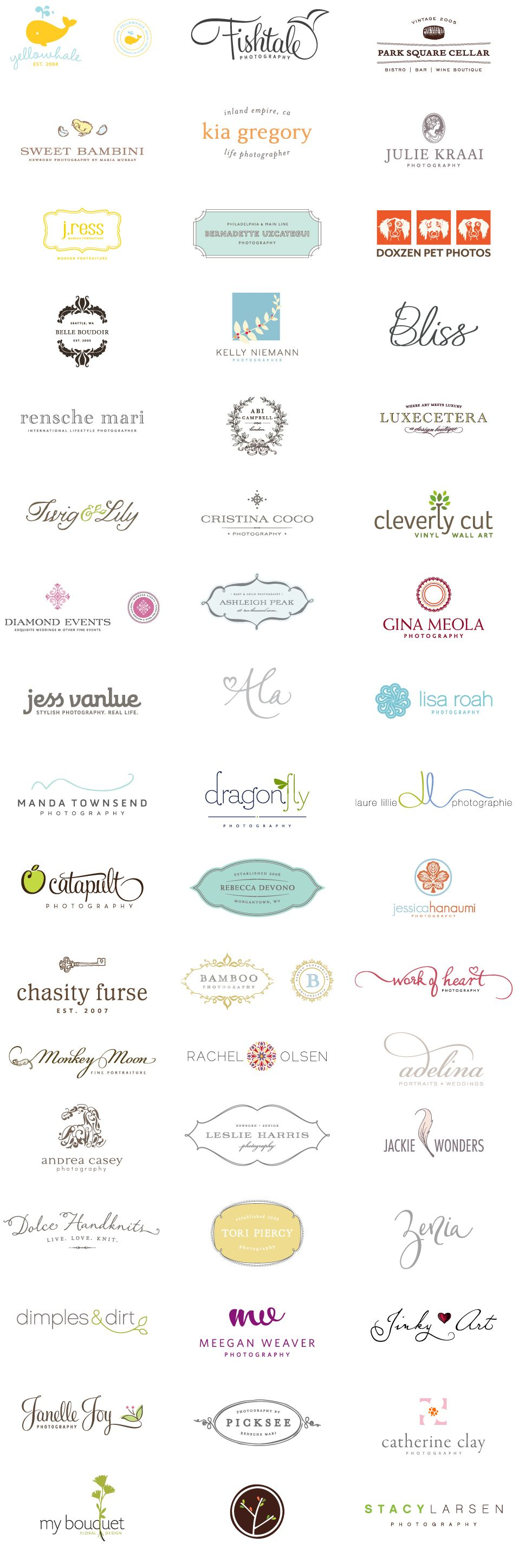 awesome collection of girly logos:  http://thethoughtfultype.com/portfolio/logo-portfolio-3/