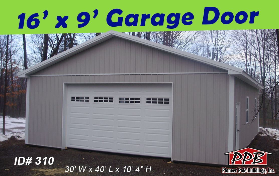 Check Out This Wide Garage Door Openings 1 16 X 9 Residential Garage Door With 4 Windows Stockton Ins Pole Buildings Residential Doors Garage Design