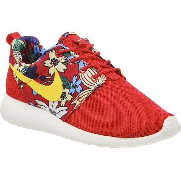 huge selection of 76ee4 3e1df Nike Roshe Run Aloha trainers (£42) ❤ liked on Polyvore featuring shoes,  sneakers, nike, red aloha print, laced shoes, print shoes, lace up sneakers,  ...
