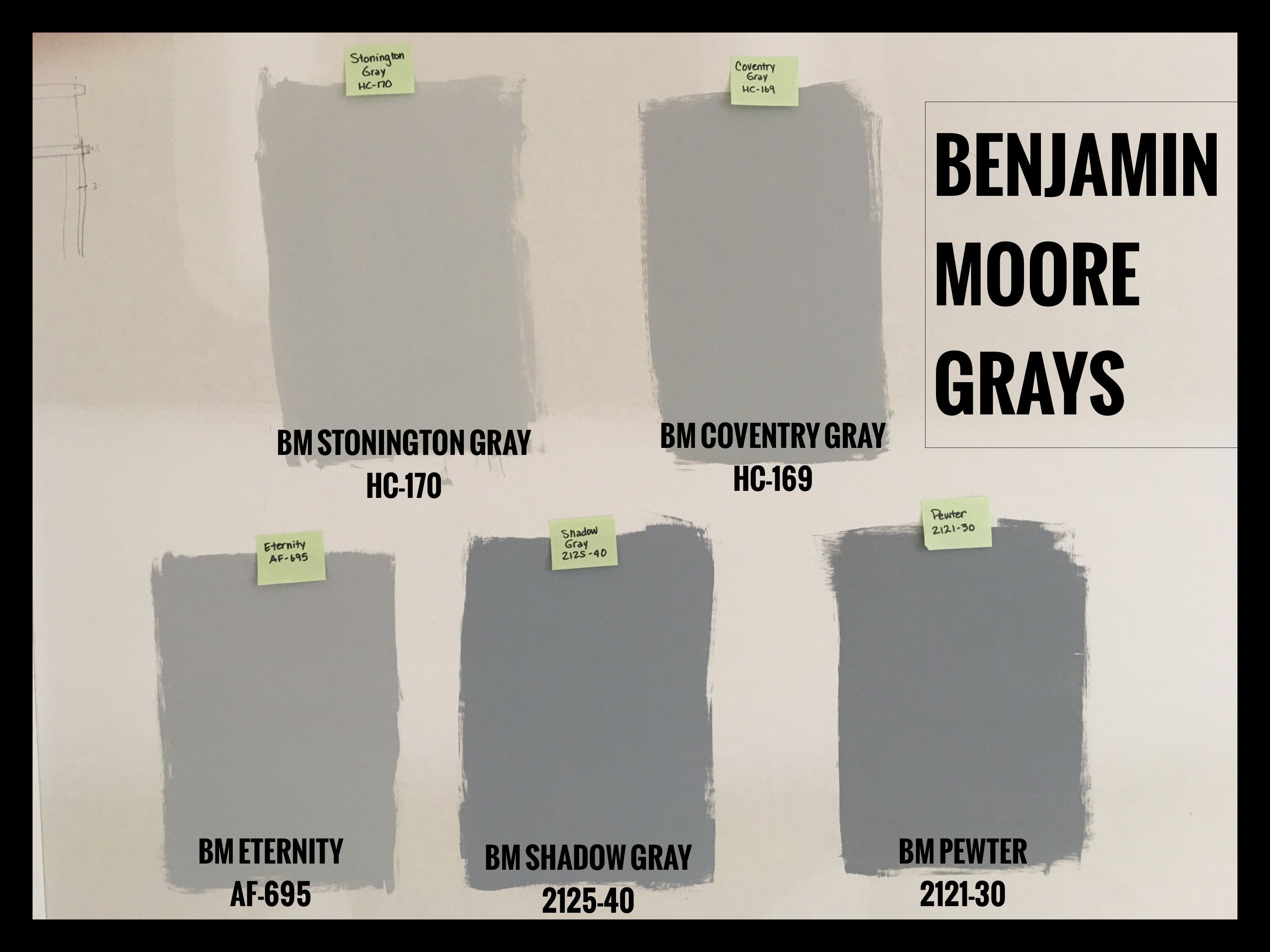 Benjamin Moore Gray Paint Swatches. BM Stonington Gray (HC ...