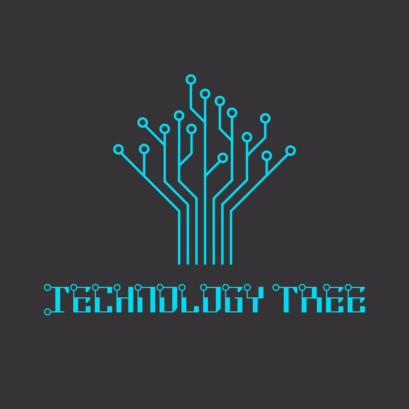 Technology tree of the microcircuit, engineering logo. | 设计 ...