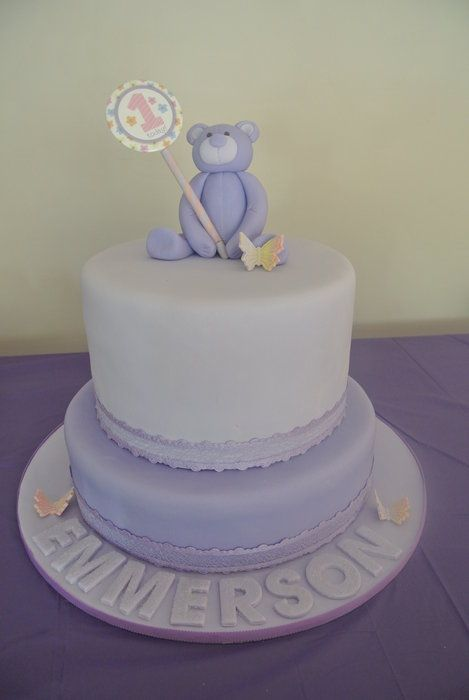 First Birthday Cake - by Emmi @ CakesDecor.com - cake decorating website