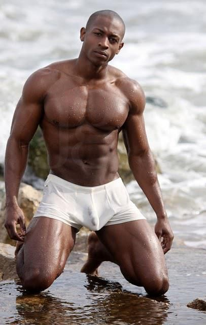 gay models muscled Black