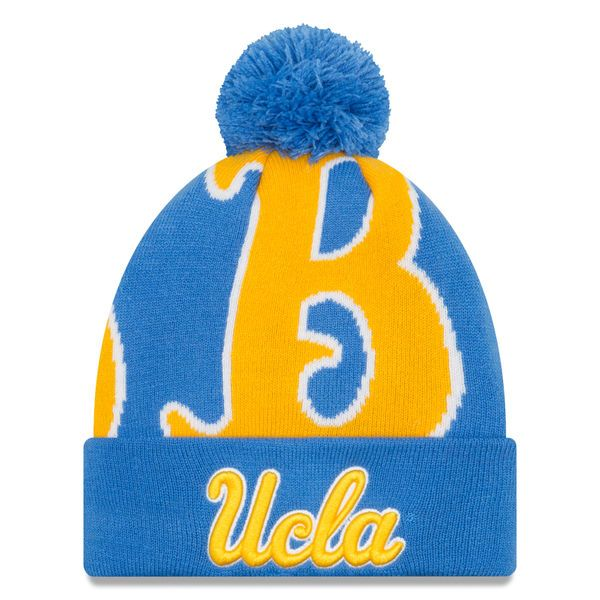 8a6b4b38e07 UCLA Bruins New Era Youth Logo Whiz 3 Cuffed Knit Hat with Pom – Blue -