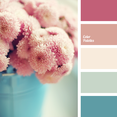 Delicate pink and blue are complemented with shades of ...