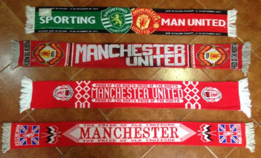 Manchester United Scarf Man United Premier League Scarves Vintage Football   a731c1c541b