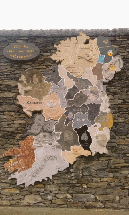 Map Of Ireland 32.15ft Map Of Ireland Made From 32 Native Stones From Each County