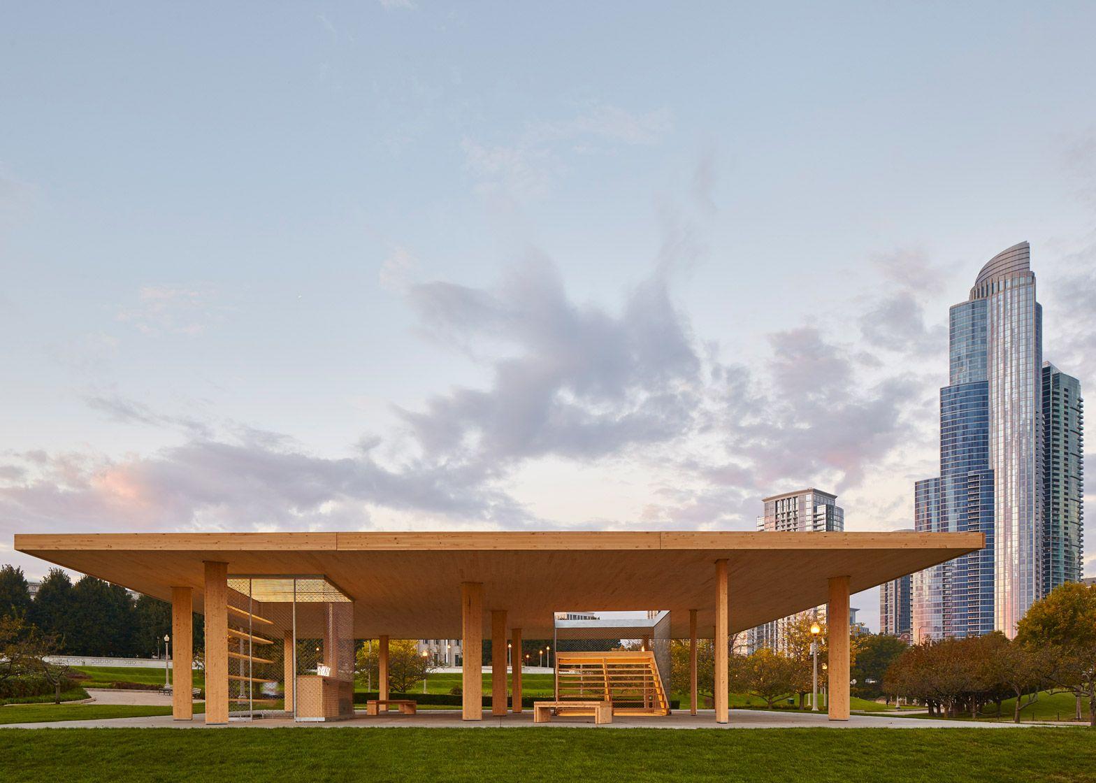 A Cross Laminated Timber Structure Has Been Built In Chicago Bring That City It S First High Profile A Chicago Architecture Pavilion Architecture Architecture
