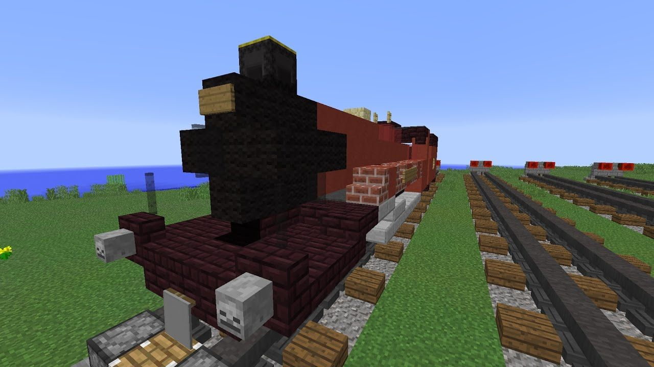 Minecraft Tutorial How To Build The Hogwarts Express Youtube Minecraft Tutorial Hogwarts Express Hogwarts