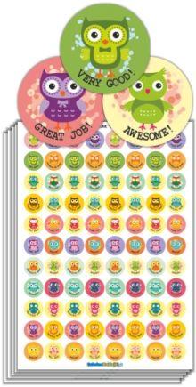 Naklejki Motywacyjne Jezyk Angielski Sowy Motivational Stickers