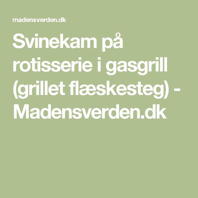 Svinekam På Rotisserie I Gasgrill Grillet Flæskesteg
