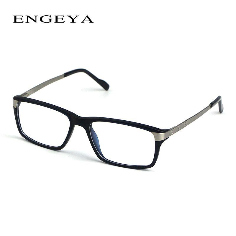 0e029cafc414 ENGEYA TR90 Clear Fashion Glasses Frame Brand Designer Optical Eyeglasses  Frames Men High Quality Prescription Eyewear  134-1