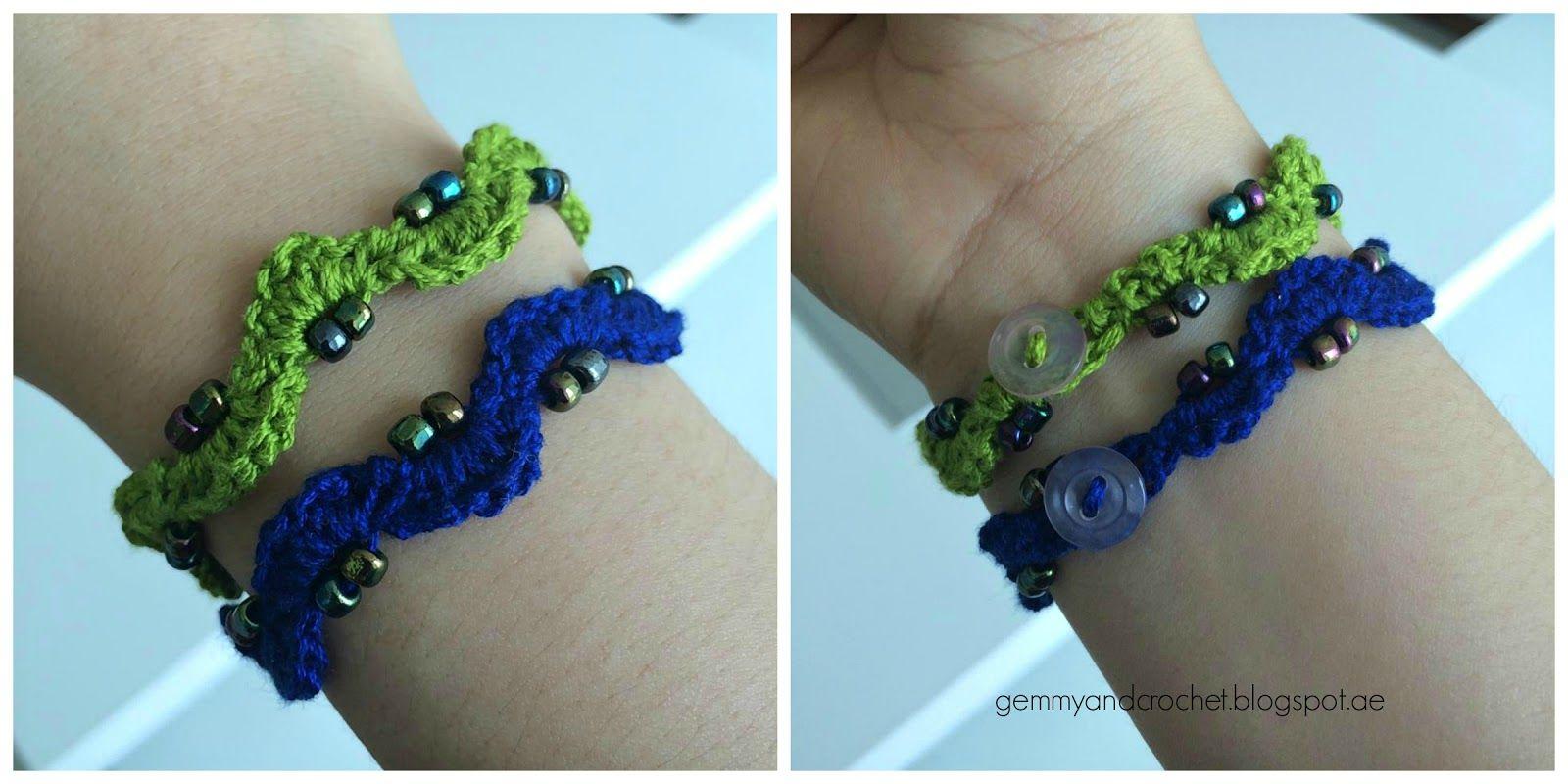 ALL ABOUT CROCHET: Free Pattern: Beaded Crochet Chain Bracelet ...