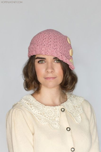 1920s Rosebud Cloche Hat Crochet Pattern Cloche Hats Hat Crochet
