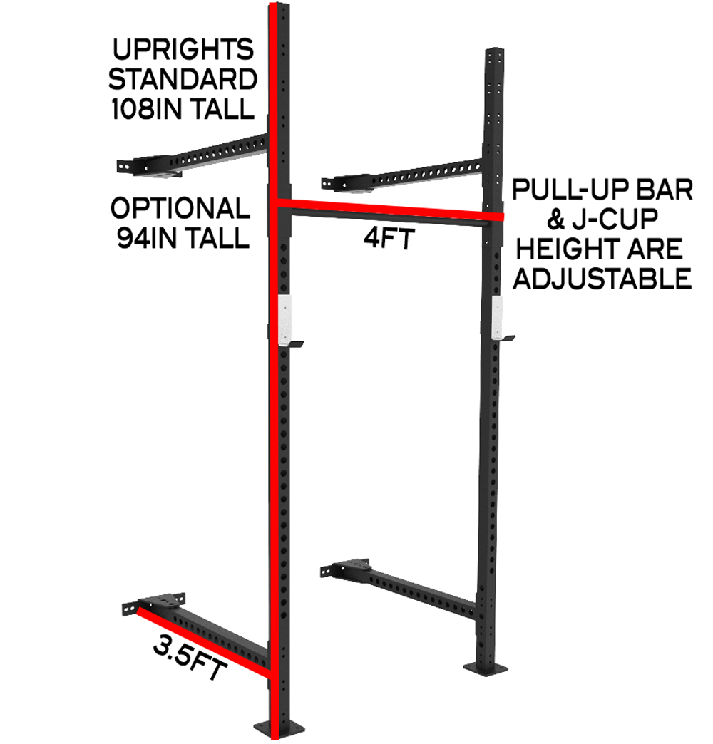 X training xwr elite folding wall mount pull up rig rack