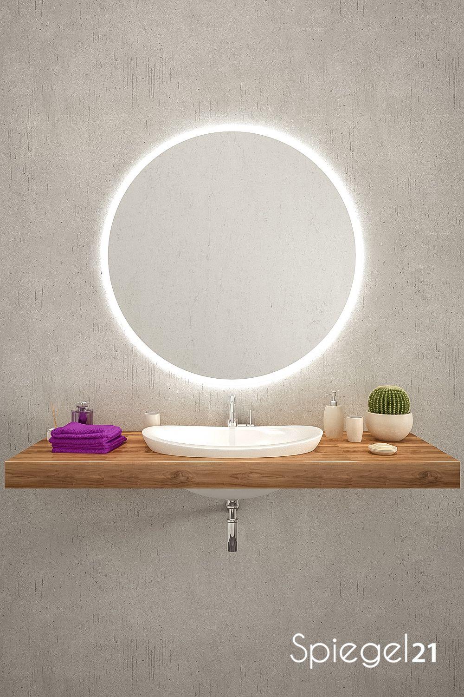 Verschonern Sie Badezimmer Oder Wohnraume Mit Einem Runden Spiegel Mit Spiegel Mit Beleuchtung Badezimmerspiegel Beleuchtung Runde Badezimmerspiegel
