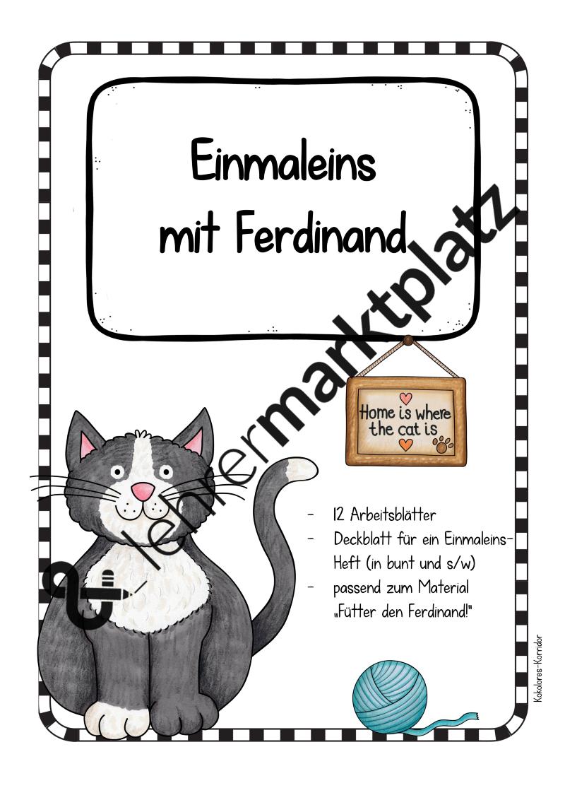 Arbeitsblätter mit Ferdinand - Einmaleins – Mathematik | Schule ...