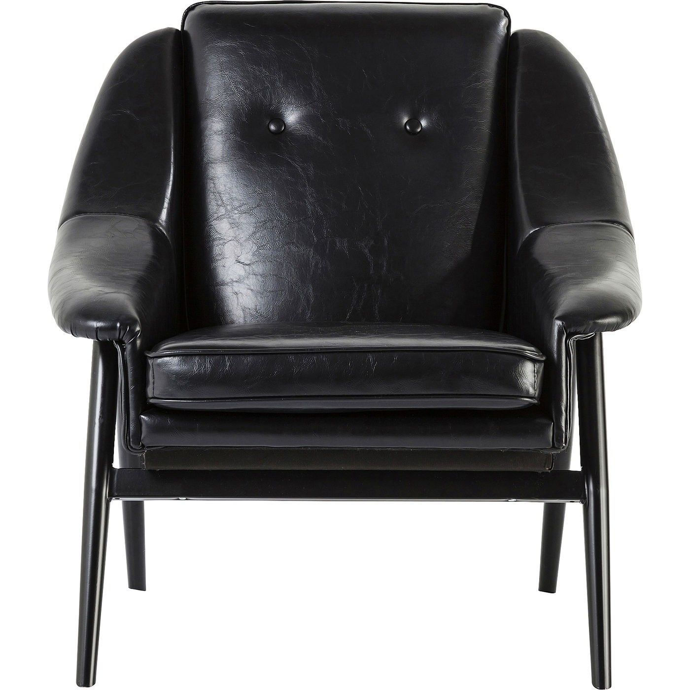 Armchair Queens Black Armchair Kare Design Sessel Schwarz Kunstleder
