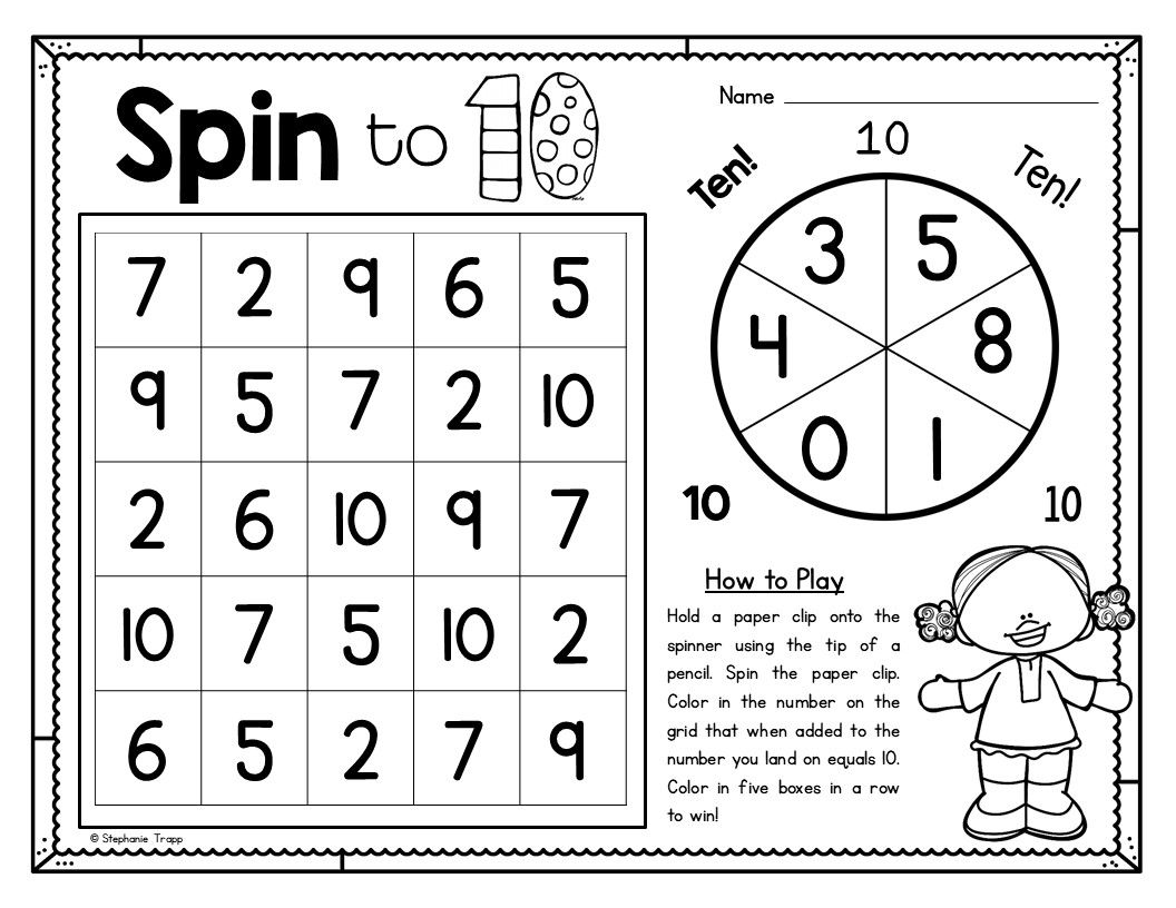 image relating to Making 10 Games Printable named Manufacturing 10 Things to do Math Math details, Manufacturing 10, Math