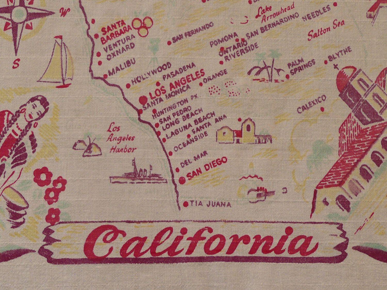 Best Vintage California Maps Images On Pinterest - Los angeles map vintage