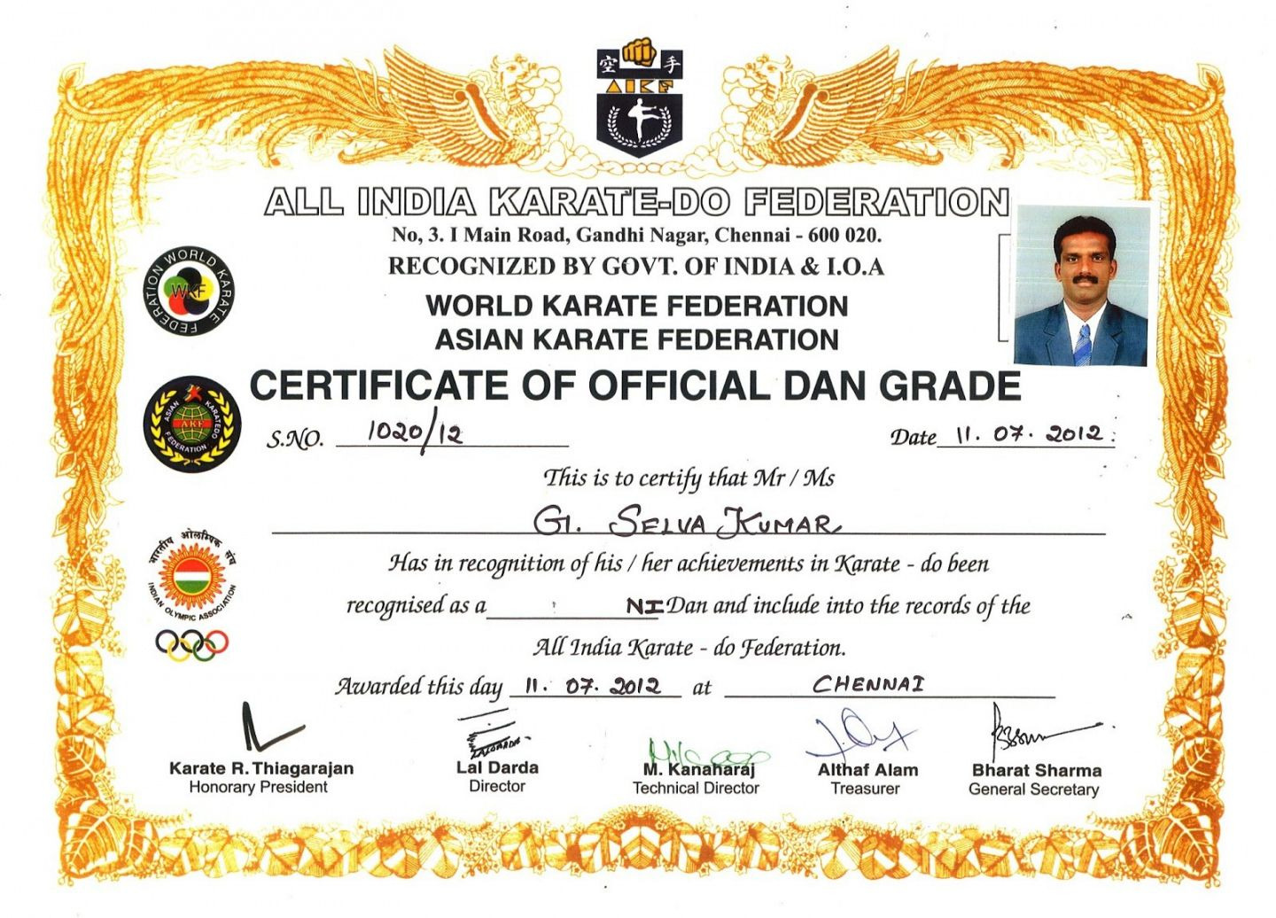 Get Our Printable Karate Certificate Template Certificate Template Certificate Templates Karate